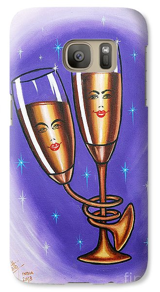 Galaxy Case featuring the painting A Twist Of Romance... by Ragunath Venkatraman