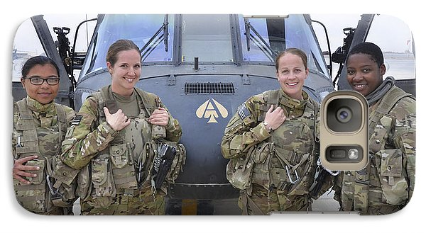 Helicopter Galaxy S7 Case - A U.s. Army All Female Crew by Stocktrek Images