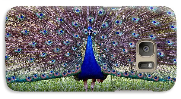 Galaxy Case featuring the photograph A Vargos Peacock by Tim Stanley