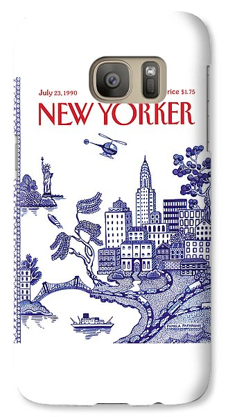 Helicopter Galaxy S7 Case - A View Of New York City by Pamela Paparone