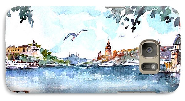 Galaxy Case featuring the painting A View Of The Historical Peninsula From Uskudar - Istanbul by Faruk Koksal