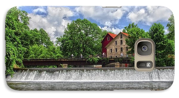 Galaxy Case featuring the photograph A View Of The Mill From The River by Debra Fedchin