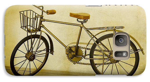 Galaxy Case featuring the photograph A Vintage Bike by MaryJane Armstrong