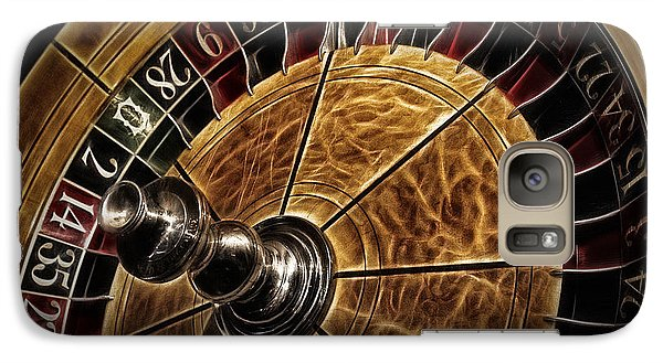 Galaxy Case featuring the photograph A Virginia City Roulette Wheel by Brad Allen Fine Art