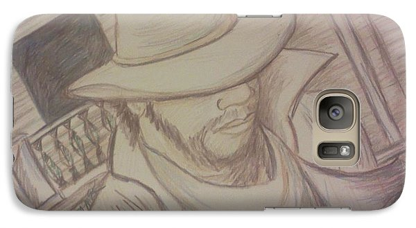 Galaxy Case featuring the drawing A Walk In An Old Town by Christy Saunders Church