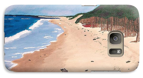 Galaxy Case featuring the painting A Walk In Nantucket by Cynthia Morgan