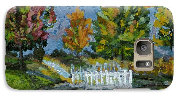 Galaxy Case featuring the painting A Walk In The Park by Michael Daniels
