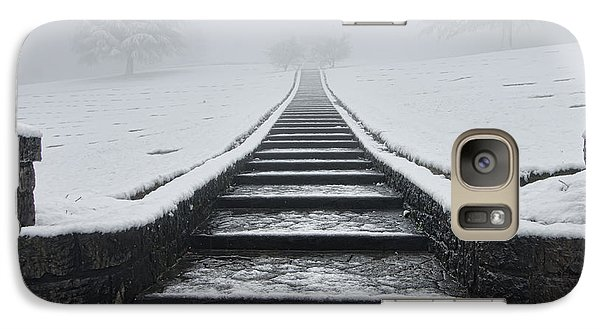 Galaxy Case featuring the photograph A Walk Into The Fog by Don Schwartz