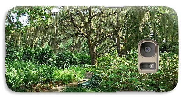 Galaxy Case featuring the photograph A Walk Through The Garden by Bob Sample