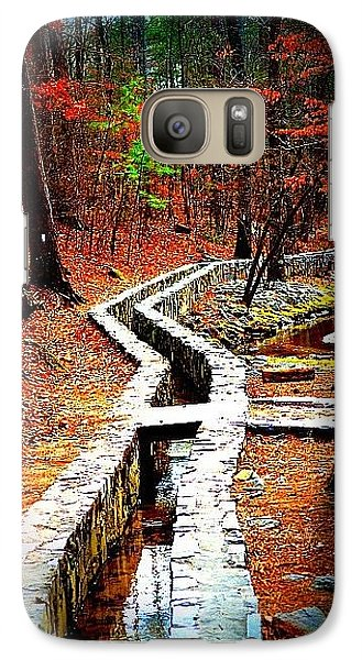 Galaxy Case featuring the photograph A Walk Through The Woods by Tara Potts