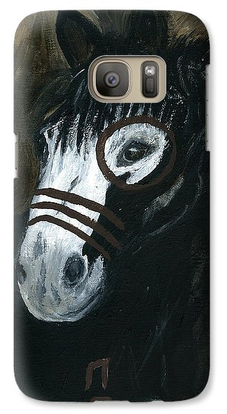 Galaxy Case featuring the painting A War Pony by Barbie Batson