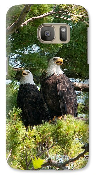 Galaxy Case featuring the photograph A Watchful Pair by Brenda Jacobs