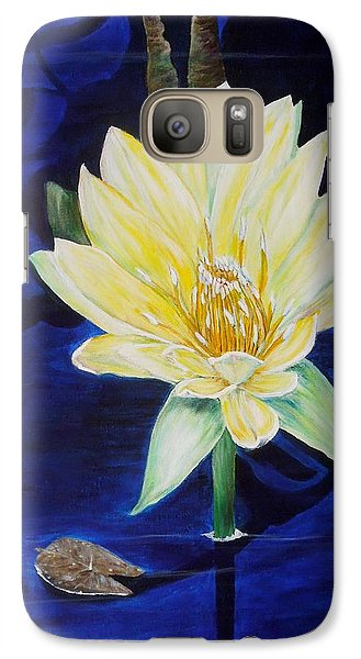 Galaxy Case featuring the painting A Waterlily by Marilyn  McNish