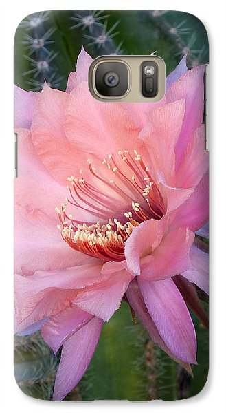 Galaxy Case featuring the photograph A Whisper Of Pink by Cindy McDaniel
