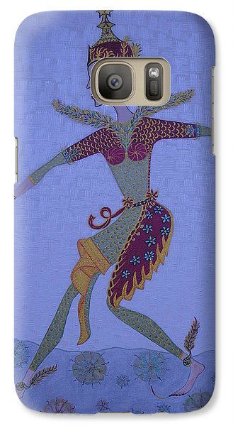 Galaxy Case featuring the painting A Wild Dance Of A Nymph by Marie Schwarzer
