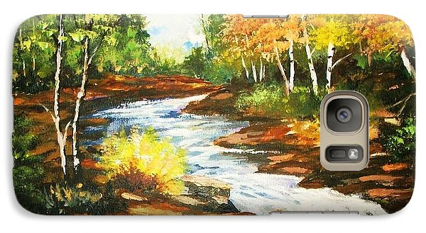 Galaxy Case featuring the painting A Winding Creekbed by Al Brown