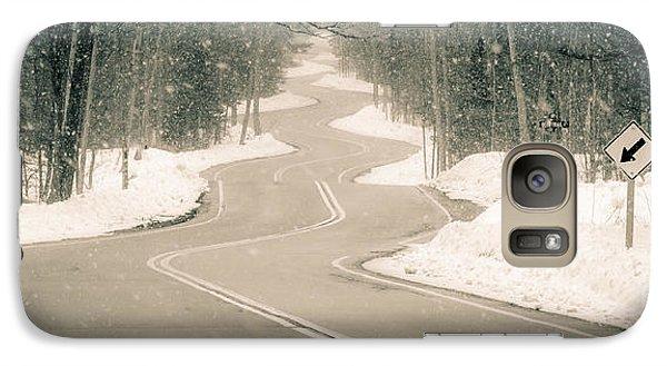 Galaxy Case featuring the photograph A Winding Winter Wonderland by Mark David Zahn Photography