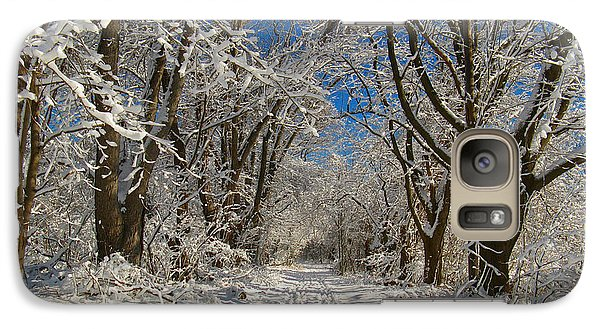 Galaxy Case featuring the photograph A Winter Road by Raymond Salani III