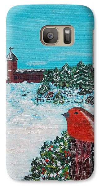 Galaxy Case featuring the painting A Winter Scene by Martin Blakeley