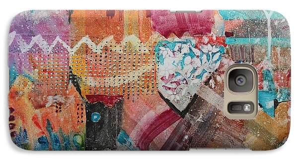 Galaxy Case featuring the painting A Winter Walk In The Park by Elizabeth Carr