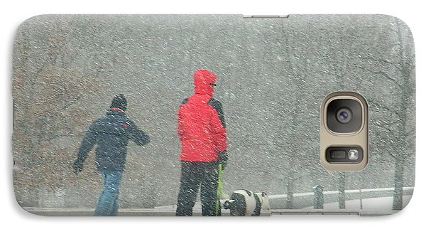 Galaxy Case featuring the photograph A Winter Walk In The Park - Silver Spring Md by Emmy Marie Vickers