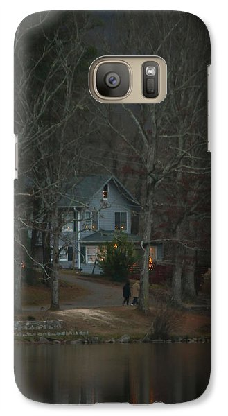 Galaxy Case featuring the photograph A Winter Walk by Tammy Schneider