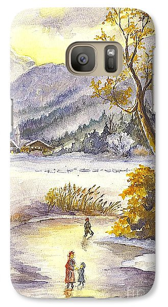 Galaxy Case featuring the painting A Winter Wonderland Part 2 by Carol Wisniewski