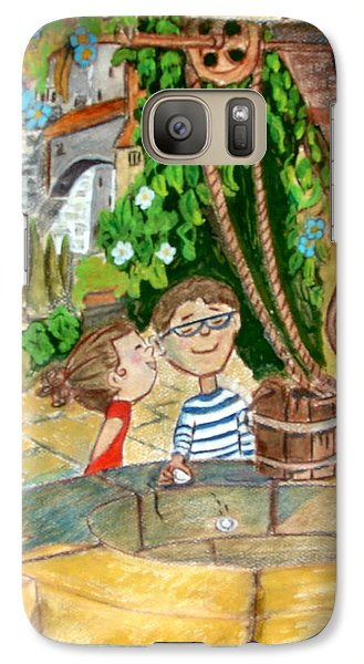 Galaxy Case featuring the drawing A Wish And A Promise by Joseph Hawkins