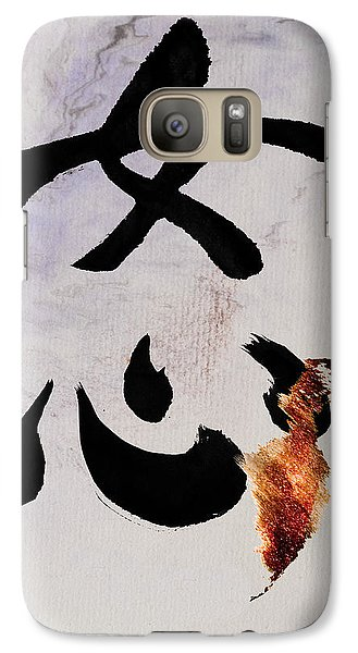 Galaxy Case featuring the mixed media A Woman's Heart Flows As A Golden River by Peter v Quenter