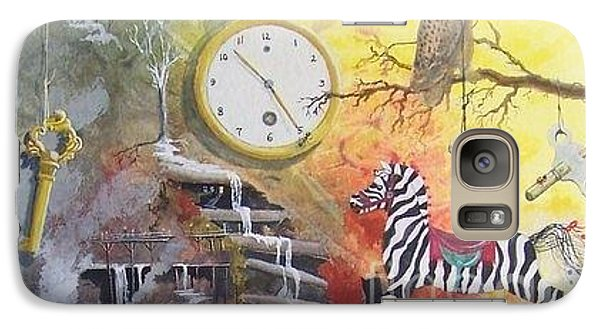 Galaxy Case featuring the painting A Wonderland Scene by Jackie Mueller-Jones