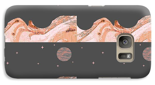 Galaxy Case featuring the digital art A World Untouched by Ann Calvo