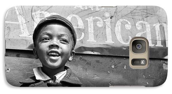 A Young Harlem Newsboy Galaxy S7 Case by Underwood Archives