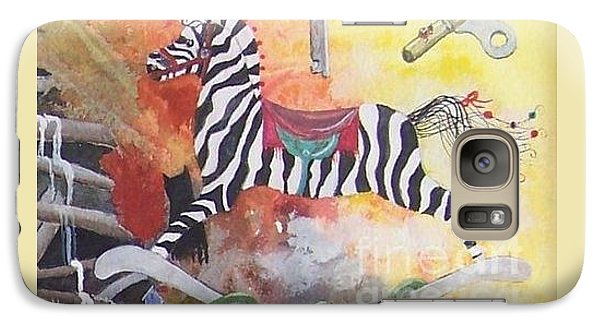 Galaxy Case featuring the painting A Zebra For Charlie by Jackie Mueller-Jones