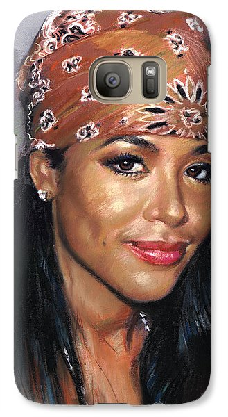 Galaxy Case featuring the drawing Aaliyah by Viola El