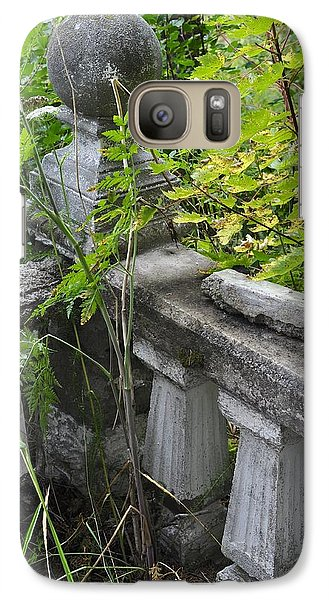 Galaxy Case featuring the photograph Abandoned Cemetery by Cathy Mahnke