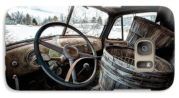 Galaxy Case featuring the photograph Abandoned Chevrolet Truck - Inside Out by Gary Heller