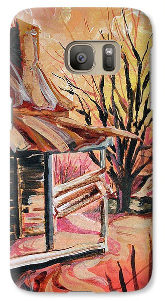 Galaxy Case featuring the painting Abandoned Farm by Lizi Beard-Ward