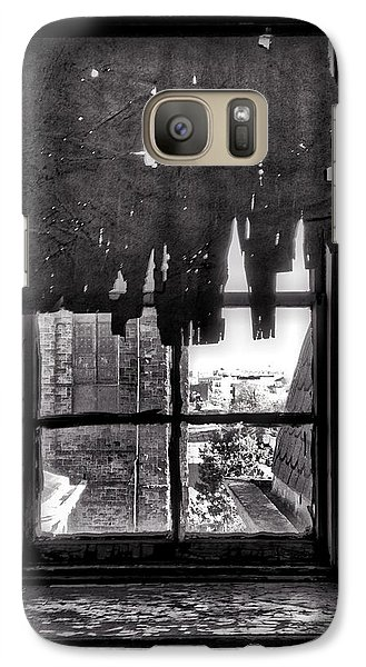 Abandoned Window Galaxy Case by H James Hoff