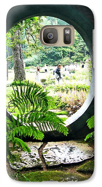 Galaxy Case featuring the photograph Abby Aldrich Garden Portal by Lizi Beard-Ward