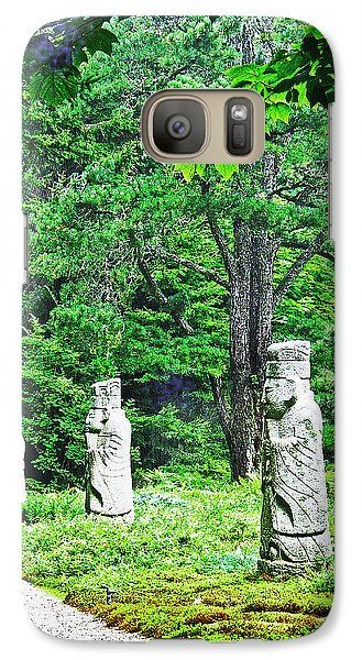 Galaxy Case featuring the digital art Abby Aldrich Rockefeller Garden Path Statuary by Lizi Beard-Ward