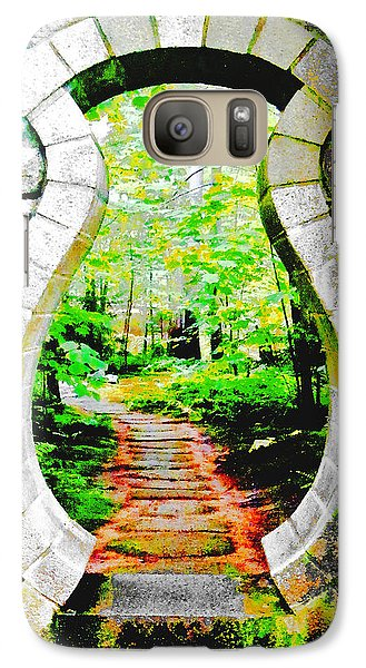 Galaxy Case featuring the digital art Abby Aldrich Rockefeller Garden Portal by Lizi Beard-Ward