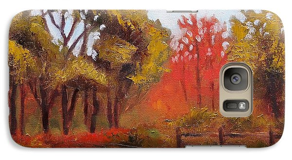 Galaxy Case featuring the painting Abeel Fields by Jason Williamson