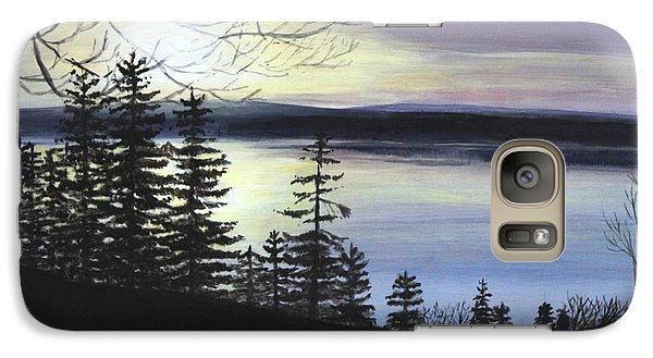 Galaxy Case featuring the painting Aberdeen Sunrise by Jesslyn Fraser