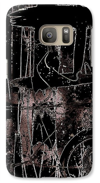 Galaxy Case featuring the painting Abidjan by Cleaster Cotton