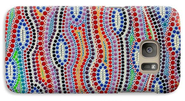 Galaxy Case featuring the painting Aboriginal Inspirations 2 by Mariusz Czajkowski
