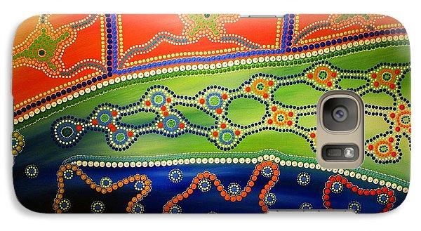 Galaxy Case featuring the painting Aboriginal Inspirations 7 by Mariusz Czajkowski