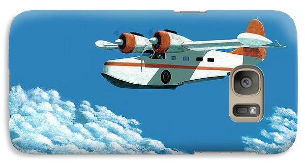 Galaxy Case featuring the painting Above It All  The Grumman Goose by Gary Giacomelli