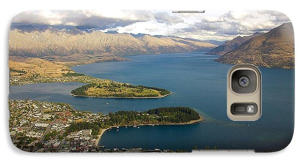 Galaxy Case featuring the photograph Above Queenstown by Stuart Litoff