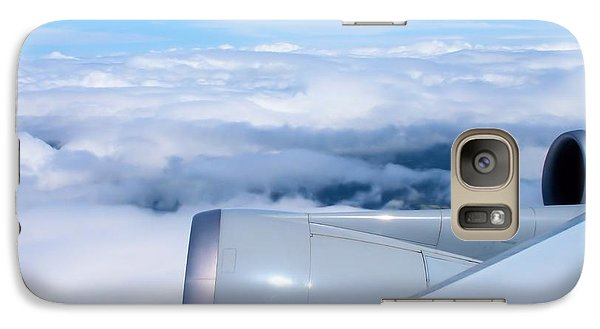 Galaxy Case featuring the photograph Above The Clouds by Dennis Lundell