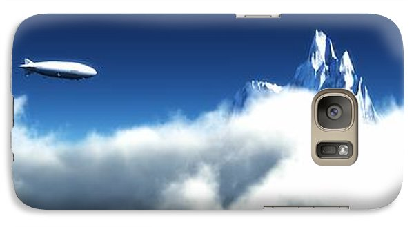 Galaxy Case featuring the digital art Above The Clouds... by Tim Fillingim